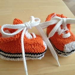 Orange sneakers